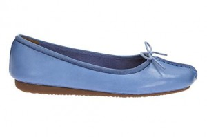 Baleriny damskie Freckle Ice Blue Leather CLARKS