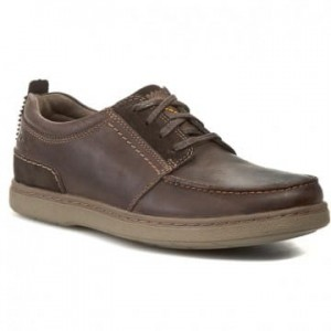 Clarks Półbuty Salton Mile Brown Leather